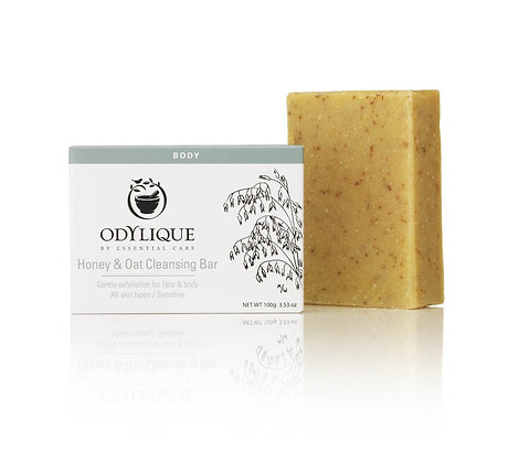 Odylique fragrance free Honey and Oat Cleansing bar with Olive oil and Coconut oil