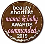 Beauty Shortlist Mama & Baby Awards Commended 2019