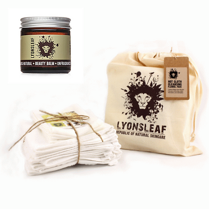Lyonsleaf - Flannel and Muslin Cloth Bale with fragrance free cleansing balm