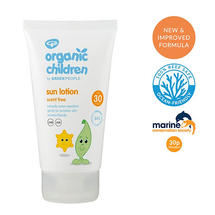 Green People Organic Children Scent Free Sun Lotion