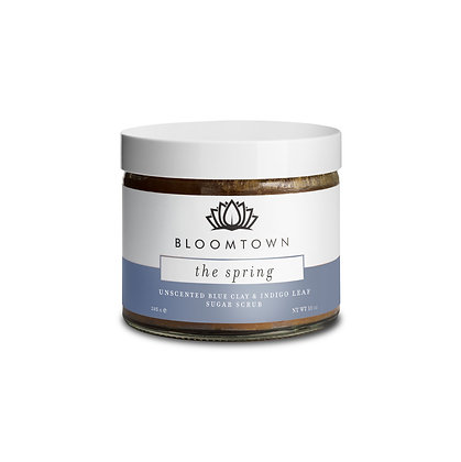 Bloomtown unscented blue clay and indigo leaf sugar scrub