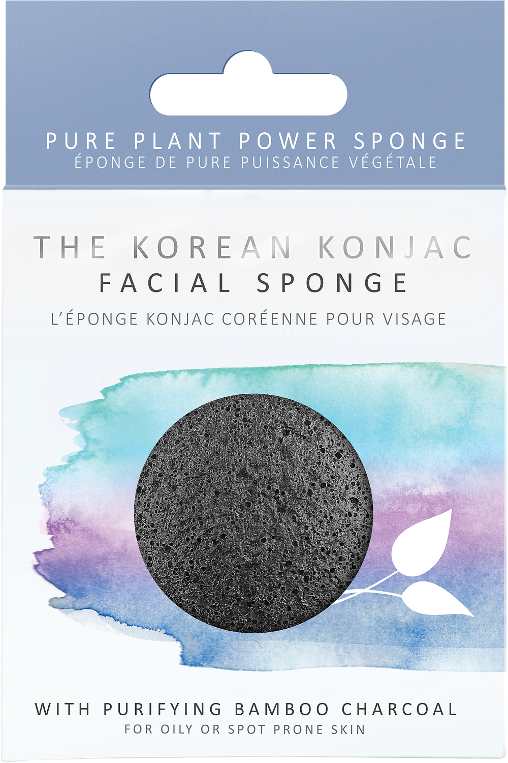 Konjac Facial Sponge infused with Bamboo Charcoal