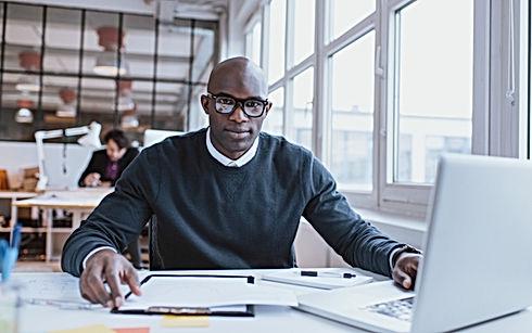 Man at his Desk