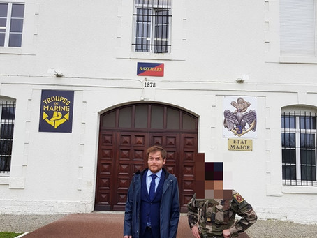 Avec les Marsouins du 3ème Régiment d'infanterie de marine de Vannes