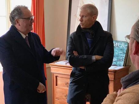 Franck Riester en visite dans le Finistère