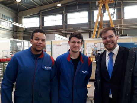 Annick Girardin en visite au campus des industries navales