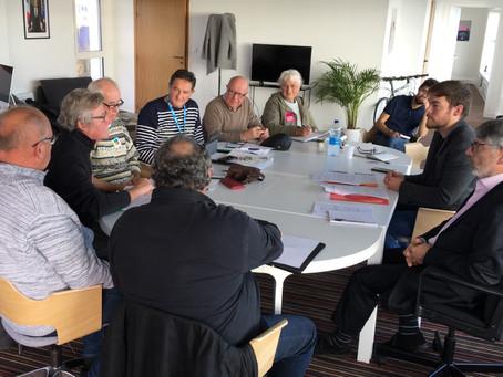 Rencontre avec l'intersyndicale des retraités du Finistère