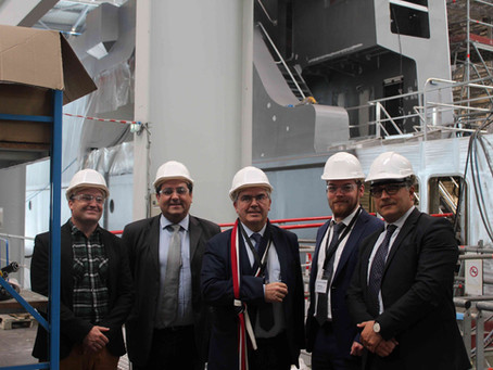 Visite des chantiers navals d'OCEA