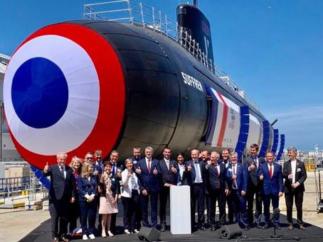 Lancement du Suffren, sous-marin nucléaire d'attaque de dernière génération