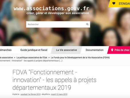Associations, candidatez au FDVA