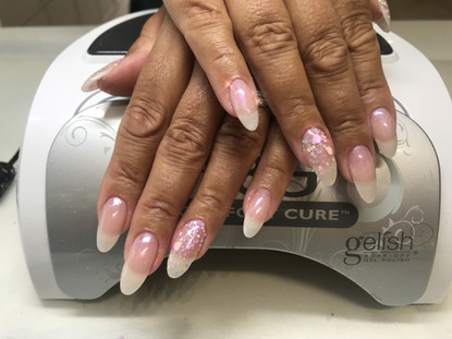 Beautiful extended Polygel Nails