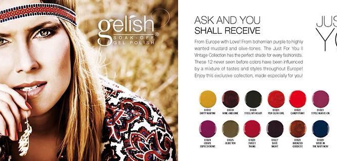 New Gelish Nail Colours JUST FOR YOU