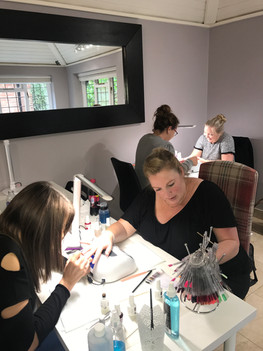 Gelish course well under way @ The Nail Rooms Chobham