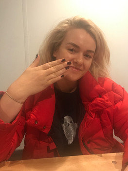 X Factor's Grace with Gelish Nails