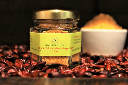 Italian Sea Salt with Dried Pequin Peppers