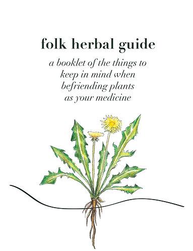 Digital Folk Herbal Guide Booklet