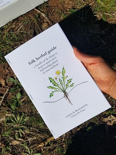 Folk Herbal Guide Booklet