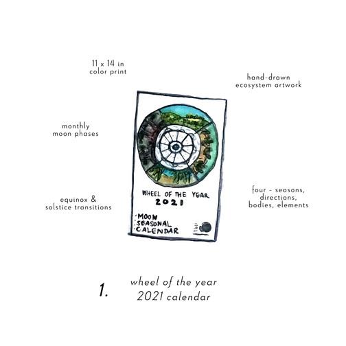 Wheel of the Year  2021 Calendar