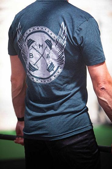 Men's T-Shirt D1 MK I (Black Aqua)