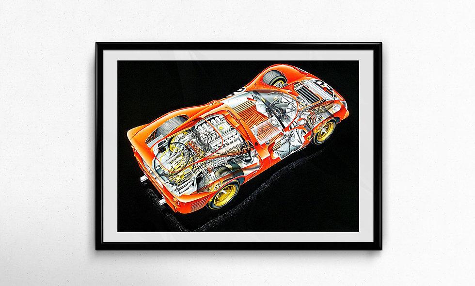 Ferrari 330P4 (1967) Limited Edition Paper Print