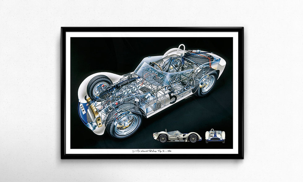 Maserati Birdcage (1960) Limited Edition Paper Print