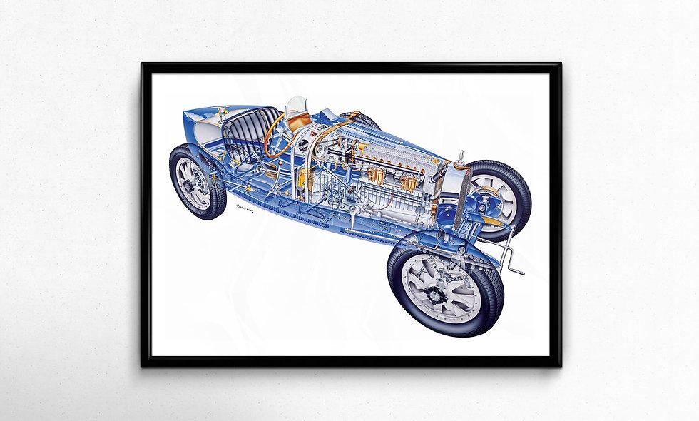 Bugatti Type 35B (1926) Limited Edition Paper Print