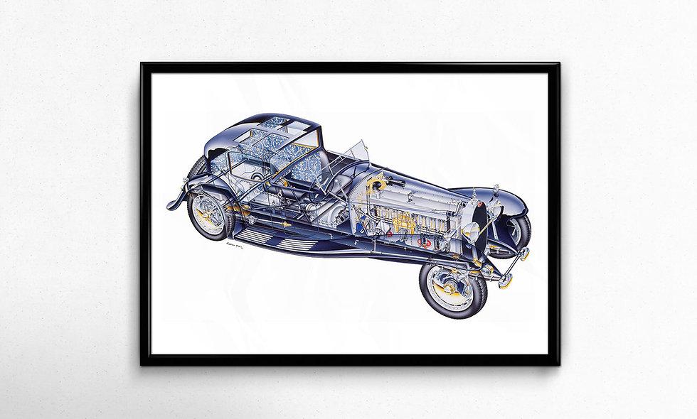 Bugatti Royale Coupé Napoléon (1929) Limited Edition Paper Print
