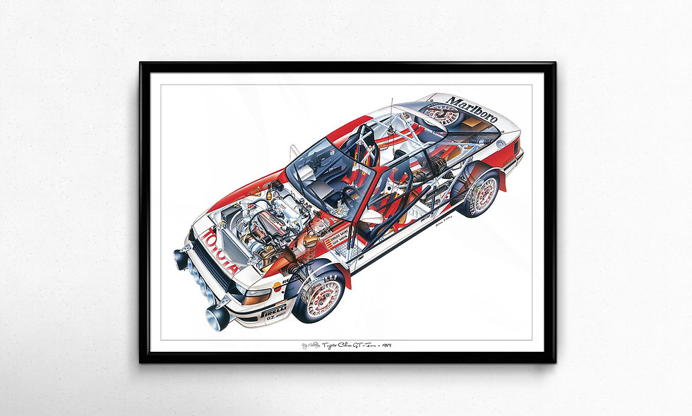 Toyota Celica GT-Four (1989) Limited Edition Paper Print