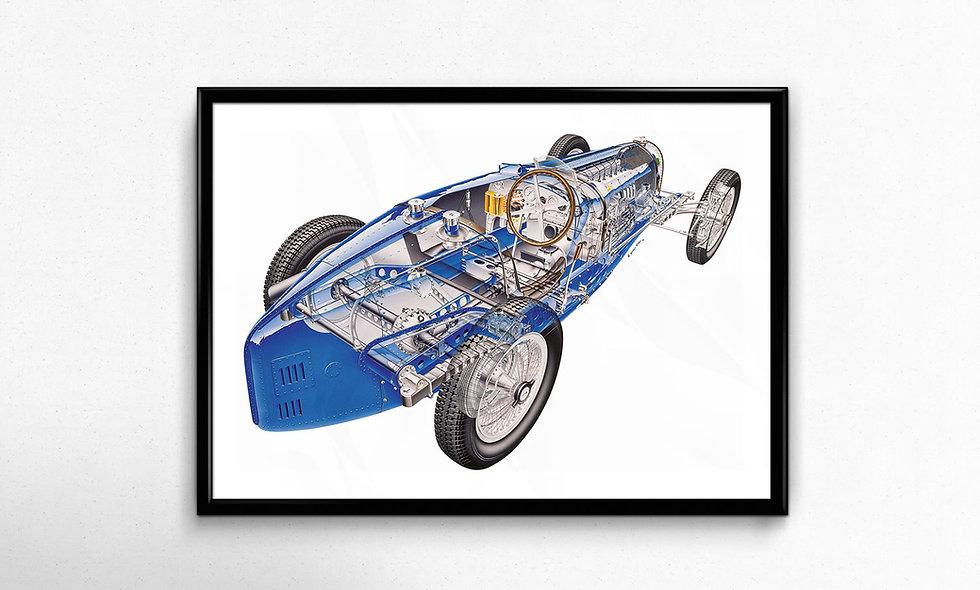 Bugatti Type 59 (1934) Limited Edition Paper Print