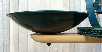 Detail of Larkrise bird table bath