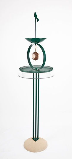 Zen bird table with squirrel baffle