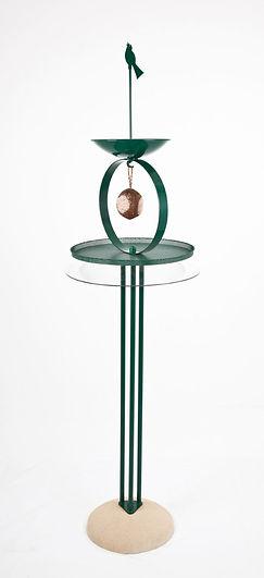 Zen bird table with squirrel baffle