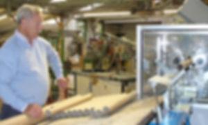 Tony making cardboard tubes for us