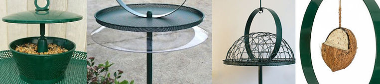 Feeders, Squirrel Baffle and Pigeon Excluder