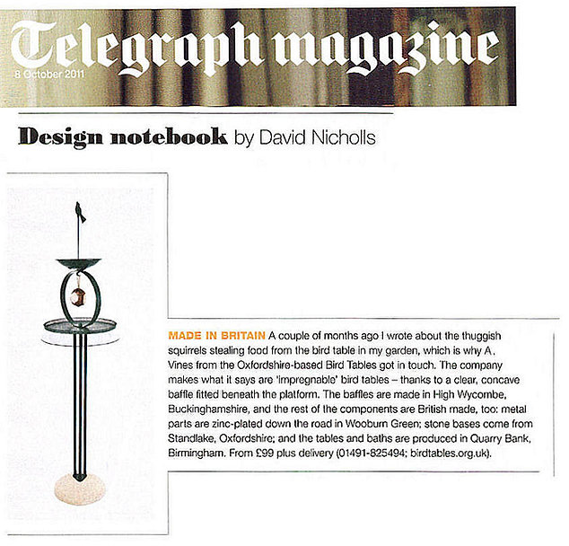 Telegraph magazine article about birdtables.org.uk