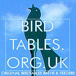 Silhouette of singing bird with Birdtables.org.uk on top