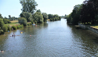 View down the Thames towards Goring