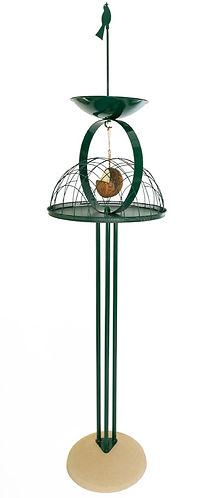 Zen bird table with pigeon excluder