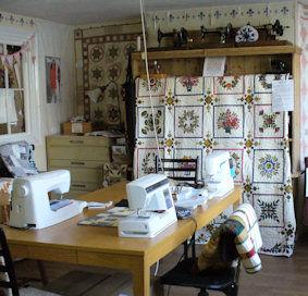 Village fabrics, patchwork shop