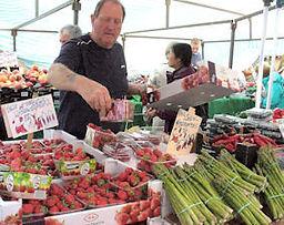 Friday Market Fruit and veg stall