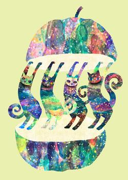虹色猫たち