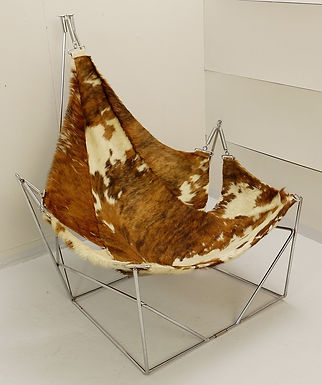 1970's cow hide chair by Odile Mir (France)