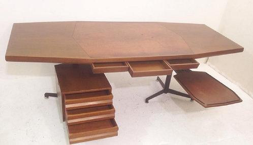 1950's Mid Century Desk By Oswaldo Borsani