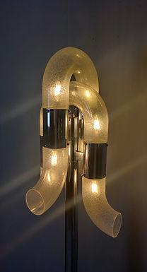 1970's Murano Glass and Chrome Standard Lamp by Aldo Nason