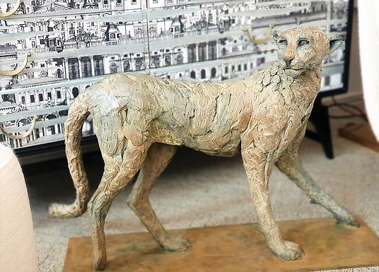 "Large Bronze ""Cheetah Standing"""