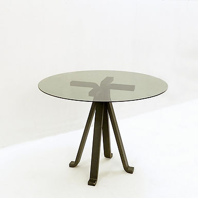 Side Table With Cast Iron Legs