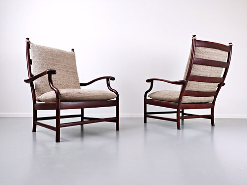 Mid Century Pair of Armchairs
