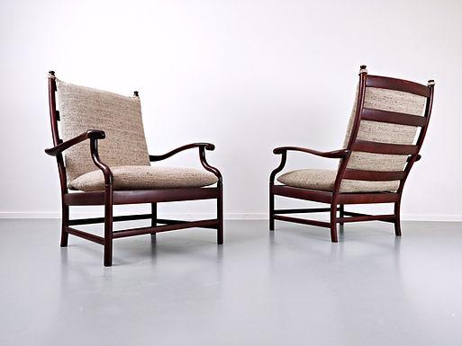 Pair of Italian Armchairs c.1950