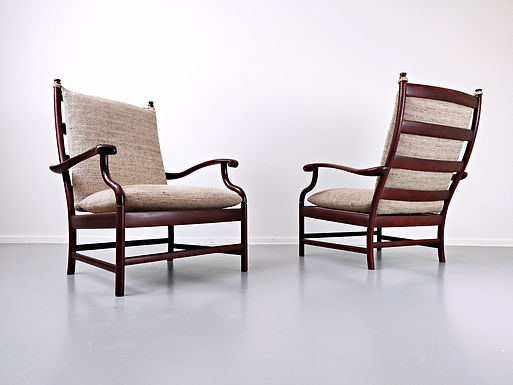 Pair of Italian Armchairs c.1950