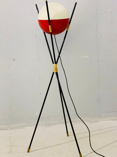 Mid Century Tripod Floor Lamp by Angelo Brotto